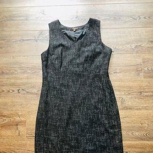 The Limited - Black sleeveless V-neck Pencil dress
